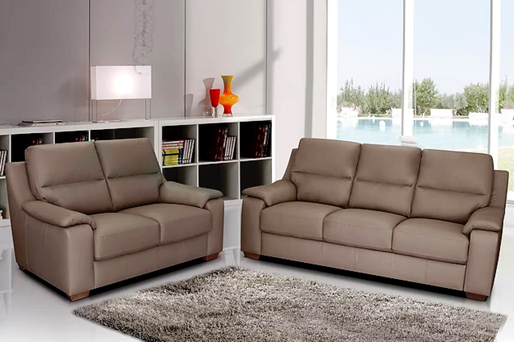 Leather Furniture Traveler Collection: Rimini Leather Sofa Collection