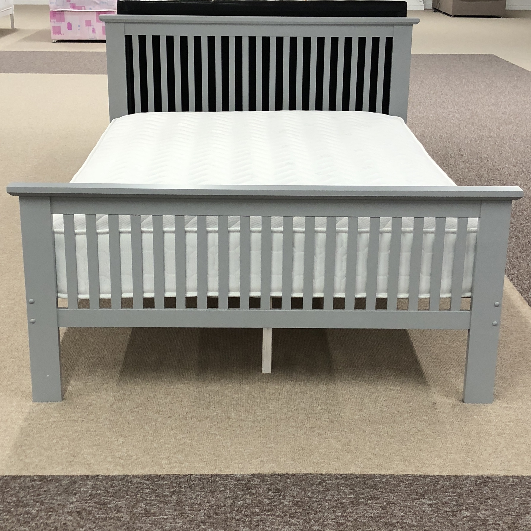 Atlanta Grey Painted Bed Frame Collection Moon Furniture