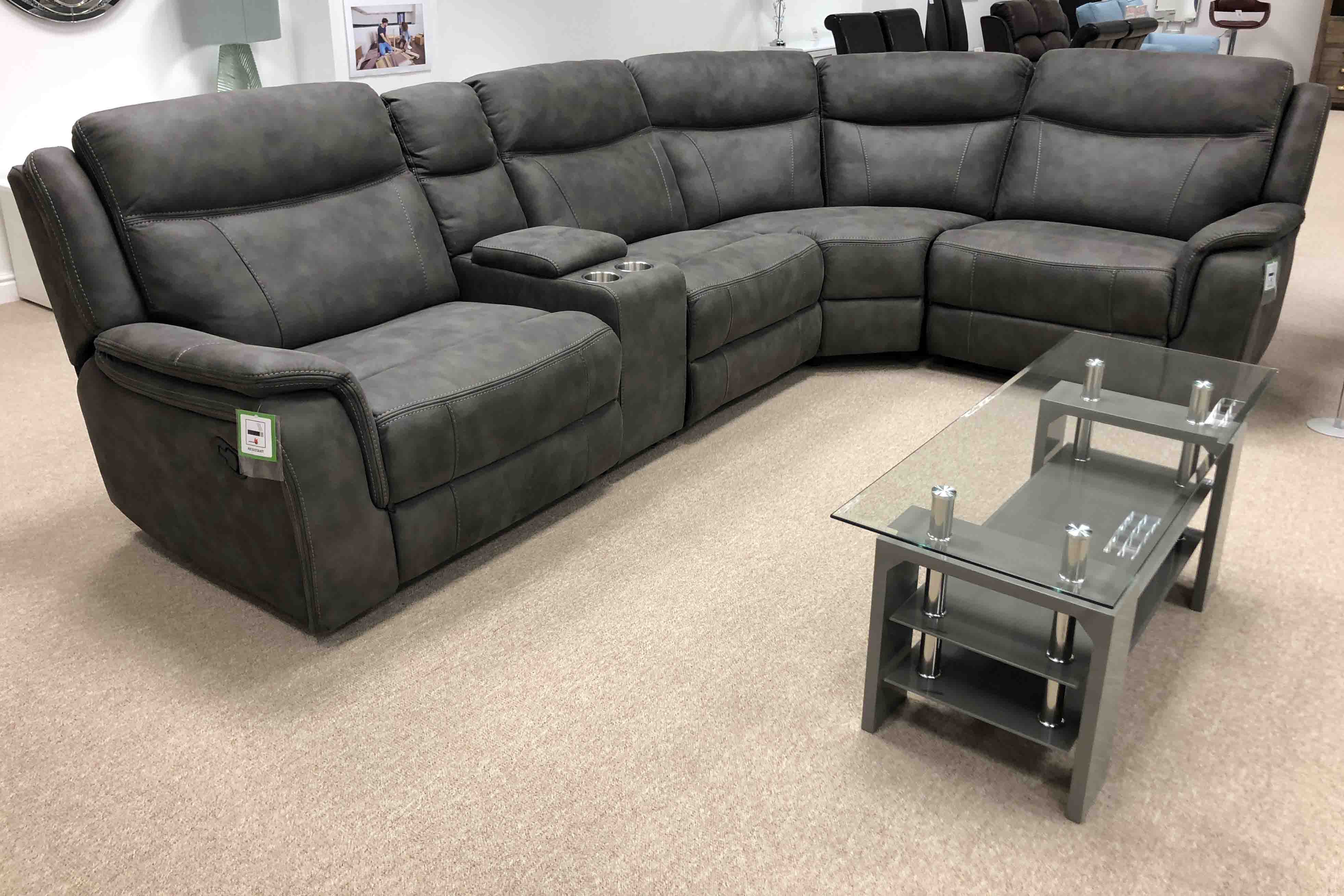 Glasgow Manual Recliner Corner Collection Moon Furniture